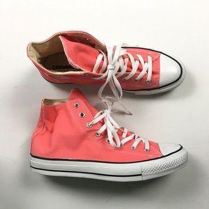 Converse W 13 M 11 Pink Chuck Taylor Hi Shoes A44